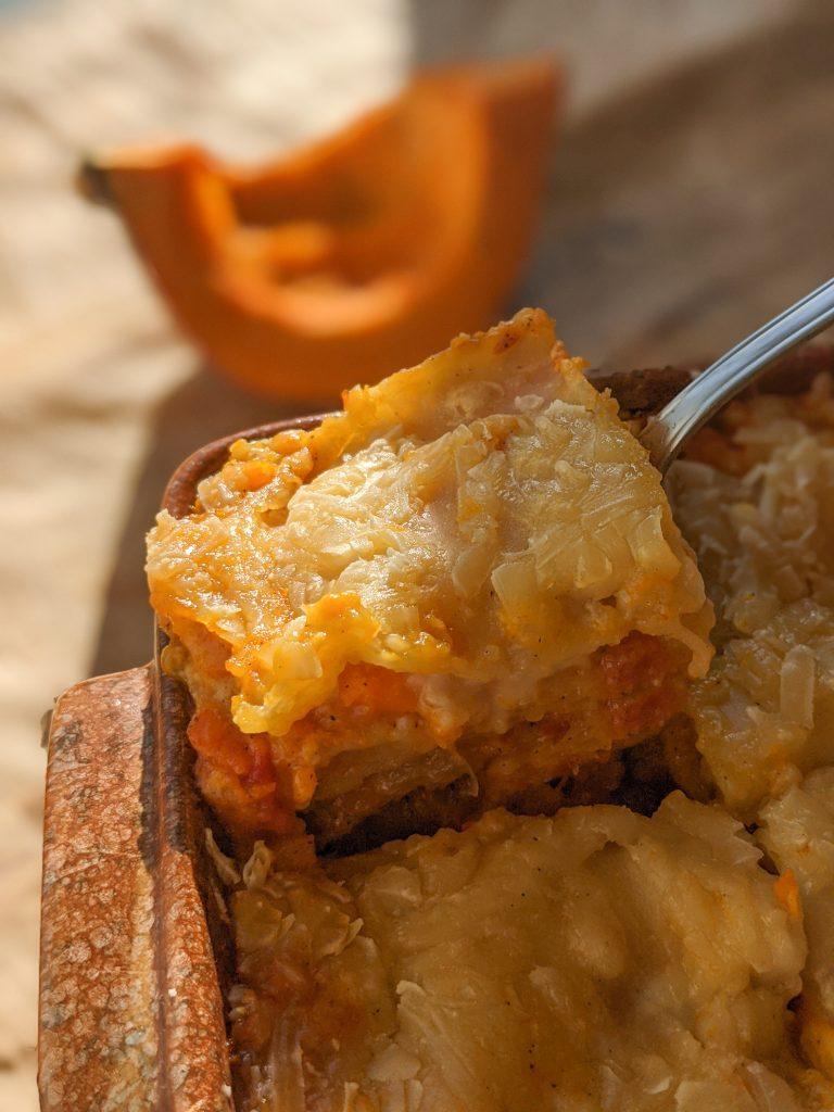 vegan hokkaido lasagna