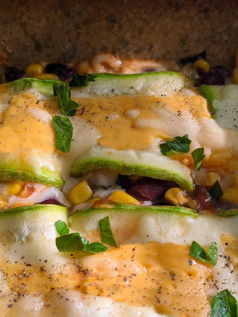 vegan zucchini enchiladas