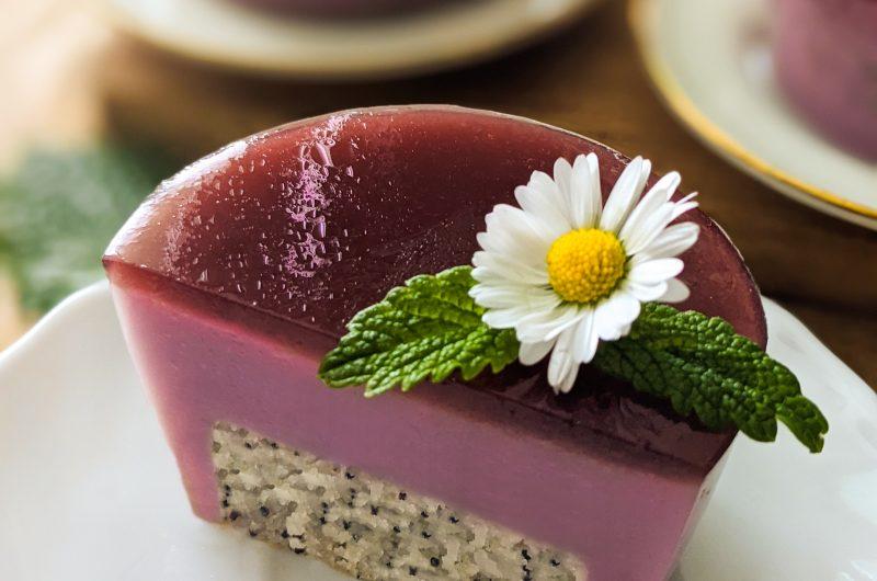 Blueberry poppy cakes